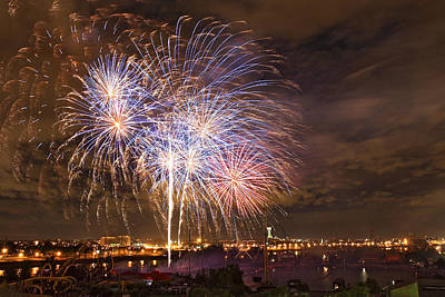 Photograph - Canada Day Fireworks Celebration In Montreal City by Pierre Leclerc Photography