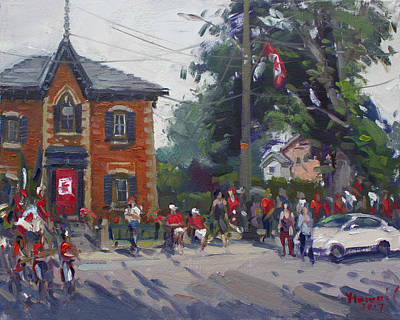 Canada Day Parade At Glen Williams  On Art Print