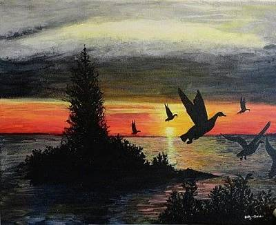 Painting - Canada Geese by Betty-Anne McDonald