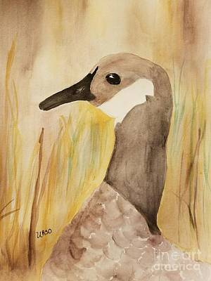 Painting - Canada Goose In The Meadow by Maria Urso