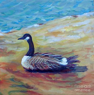 Canadian Geese Painting - Canada Goose by Vanessa Hadady BFA MA