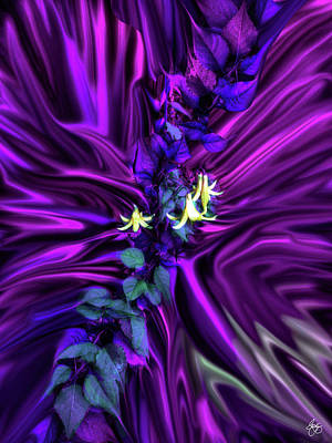 Photograph - Canada Lily In A Purple Rain by Wayne King
