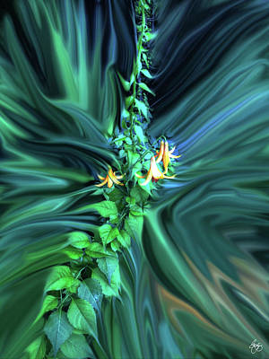 Photograph - Canada Lily In A Storm by Wayne King