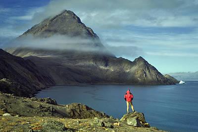 Baffin Island Photograph - Canada, Nunavut, Baffin Island, Mount Herodier, Eclipse Sound by Daryl Benson