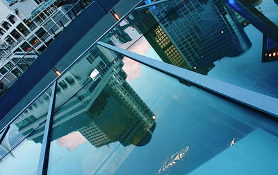 Photograph - Canada Place Reflected by Barbara  White