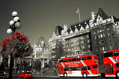 Photograph - Canada Sightseeing - Victoria British Columbia by Art America Gallery Peter Potter