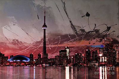 Desert Scape Painting - Canada- Toronto 01a by Gull G
