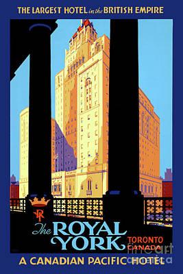 Mixed Media - Canada Toronto Vintage Travel Poster Restored by Carsten Reisinger
