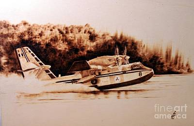 Pyrography Pyrography - Canadair by Ilaria Andreucci