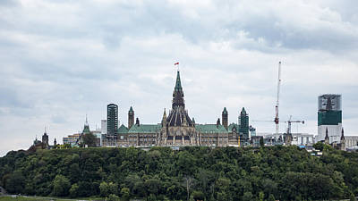 Photograph - Canada's Parliament by Josef Pittner