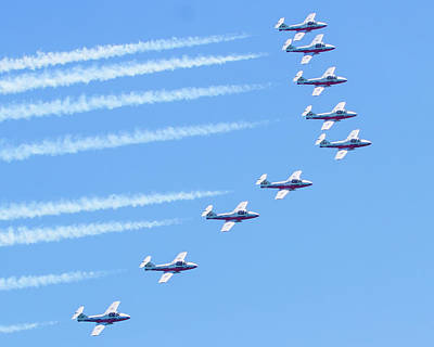 Photograph - Canadian Air Force Snowbirds by Mark Andrew Thomas