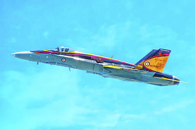 Photograph - Canadian Armed Forces Cf-18 Hornet by Mark Andrew Thomas