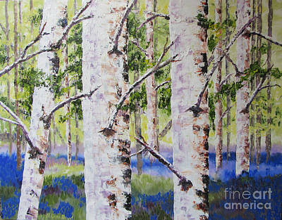 Painting - Canadian Autumn Birch by Lisa Boyd