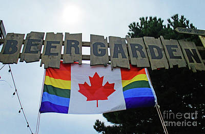 Photograph - Canadian Beer Garden by Randall Weidner