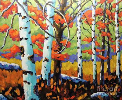 Canadian Birch Woods Original