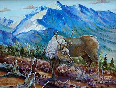 Mixed Media - Canadian Caribou by Philip Bracco