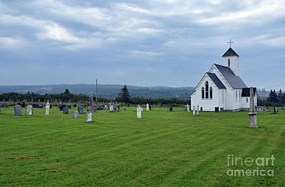 Photograph - Canadian Church Cemetary by Glenn Gordon
