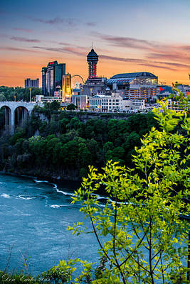 Canadian Falls Skyline Art Print