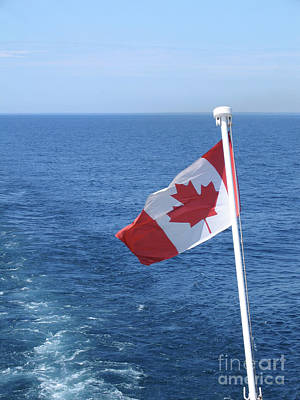 Photograph - Canadian Flag Astern by Ann Horn