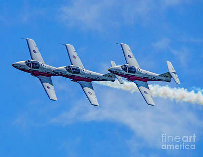 Photograph - Canadian Forces Snowbirds by Nick Zelinsky