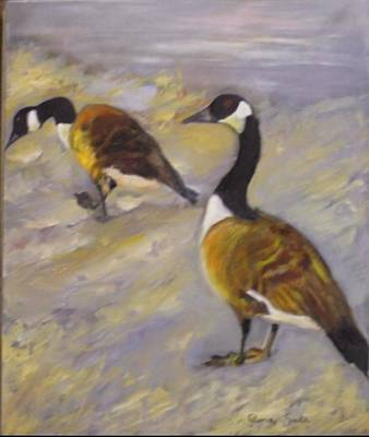 Painting - Canadian Geese by Gloria Smith