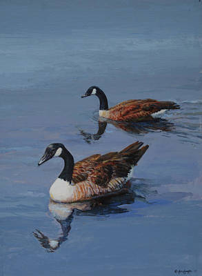 Painting - Canadian Geese by Mel Greifinger