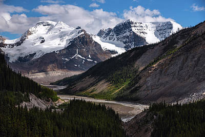 Photograph - Canadian Glaciers In Jasper National Park by Dave Dilli