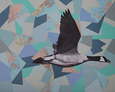 Canadian Geese Painting - Canadian Goose by Ramey Guerra