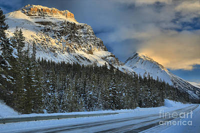 Photograph - Canadian Ice Fields Parkway Sunset by Adam Jewell