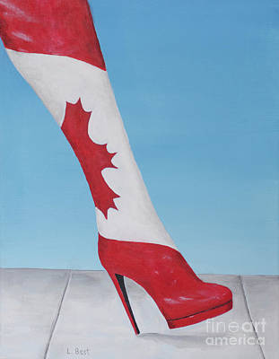 Painting - Canadian Kinky Boot by Laurel Best