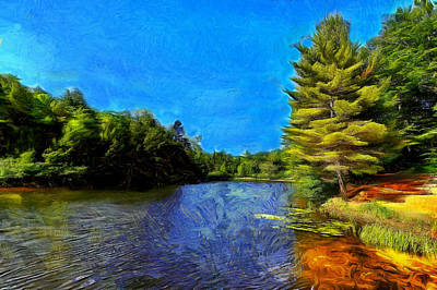 Gatineau Park Digital Art - Canadian Lake #2 by Jean-Marc Lacombe