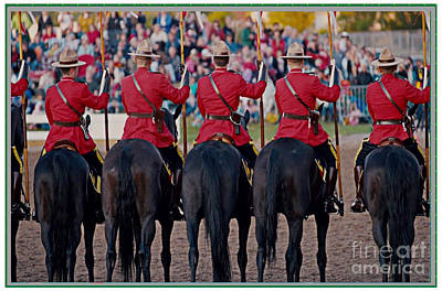 Photograph - Canadian Mounties  Celebration Colors And Presentation March Show by Navin Joshi