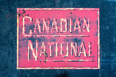 Photograph - Canadian National Railroad Rail Car Signage by Jeff Abrahamson