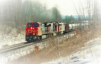 Canadian National Railway Vignette Art Print