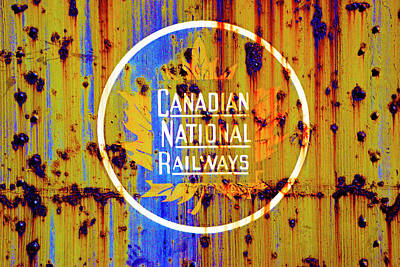 Photograph - Canadian National Railways Logo/sign by Paul W Faust - Impressions of Light