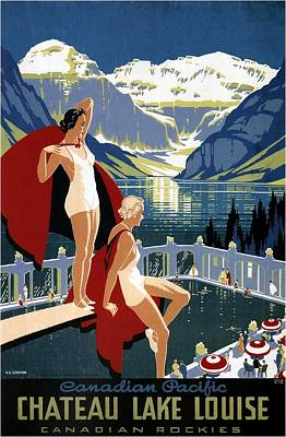 Mixed Media - Canadian Pacific - Chateau Lake Louise - Canadian Rockies - Retro Travel Poster - Vintage Poster by Studio Grafiikka