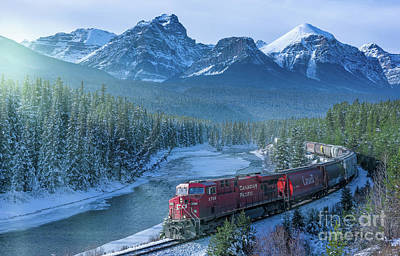 Canadian Pacific Railway Through The Rocky Mountains Art Print