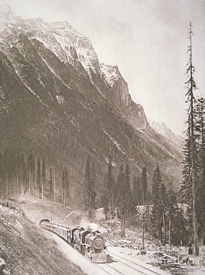 Photograph - Canadian Pacific Railway Train by Canadian School