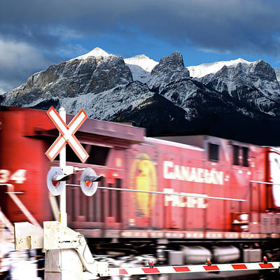 Cp Rail Photograph - Canadian Pacific Trail Slices Through The Rockies by Lisa Knechtel