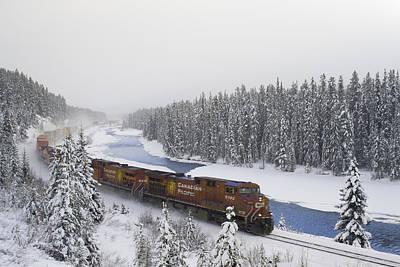 Canadian Pacific Train At Morants Curve Art Print