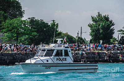 Photograph - Canadian Police Boat by Grace Grogan