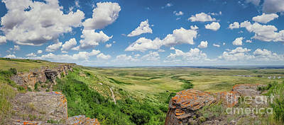 Photograph - Canadian Prairie At Head-smashed-in Buffalo Jump by JR Photography