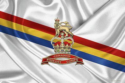 Digital Art - Canadian Provost Corps - C Pro C Badge Over Unit Colours by Serge Averbukh