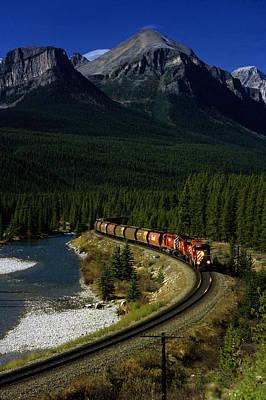 Canadian Railroad Art Print by Susan  Benson