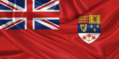 Digital Art - Canadian Red Ensign 1957-1965 by Serge Averbukh
