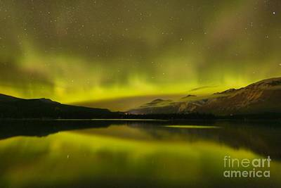 Photograph - Canadian Rockies Aurora Borealis by Adam Jewell