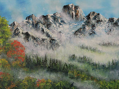 Painting - Canadian Rockies-autumn Morning Mist by Shirley Heyn