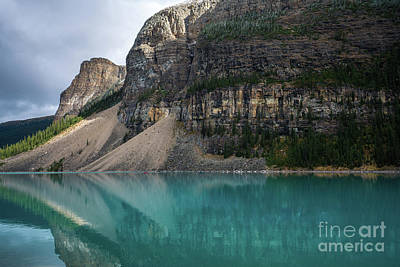 Photograph - Canadian Rockies Lake Moraine Immensity by Mike Reid