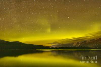 Photograph - Canadian Rockies Northern Lights by Adam Jewell