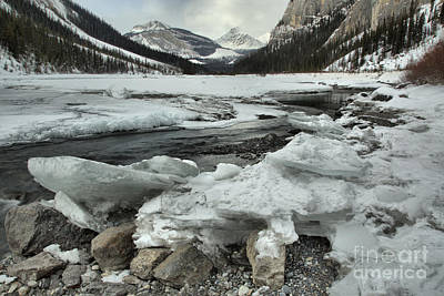 Photograph - Canadian Rockies Rugged Winter Landscape by Adam Jewell